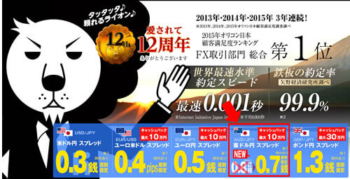 ヒロセ通商(LIONFX)