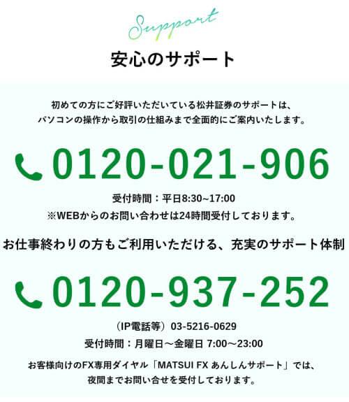 松井証券サポート情報