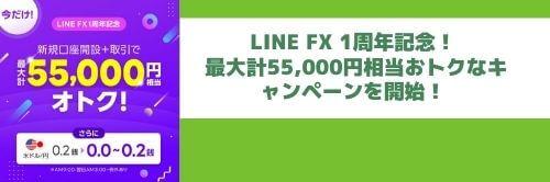 LINEFXの1周年記念キャンペーン