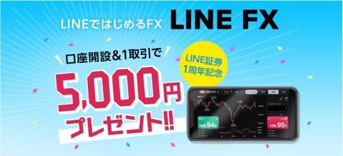 LINE証券[LINEFX]キャッシュバックキャンペーン